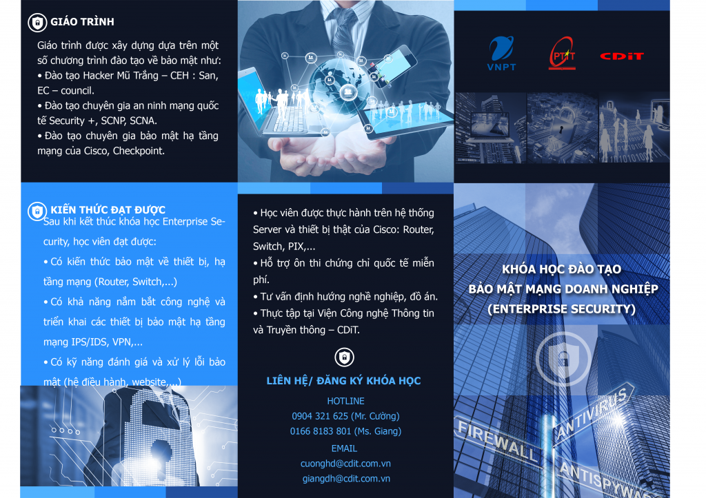 Khóa học Bảo mật mạng doanh nghiệp – NIS  (NETWORK INFASTRUCTURE SECURITY)