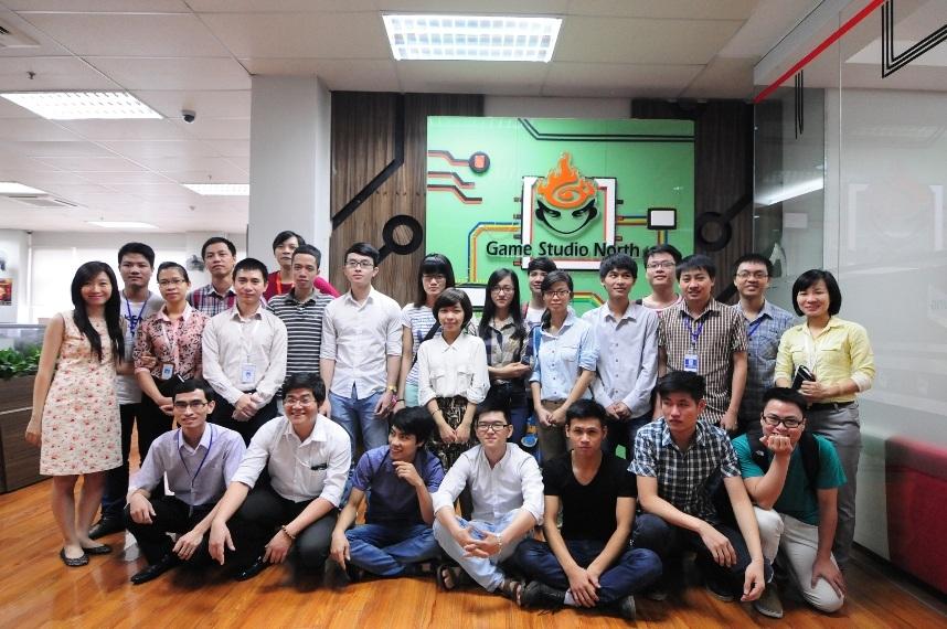 """Viện CNTT&TT CDIT đưa học viên Khóa học """"Phát triển Mini Game"""" đi thăm quan Game Studio phía bắc của Công ty Cổ phần VNG"""