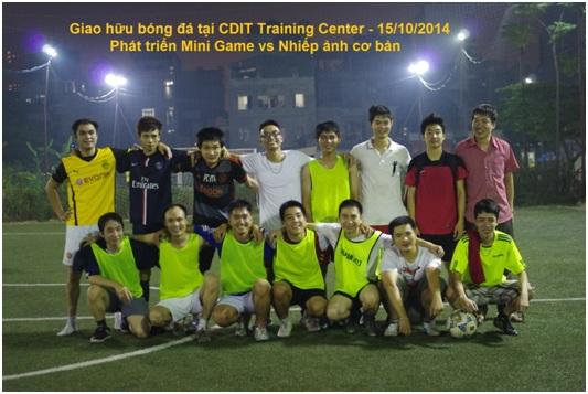 Giao hữu bóng đá giữa học viên các lớp ngắn hạn của CDIT Training Center