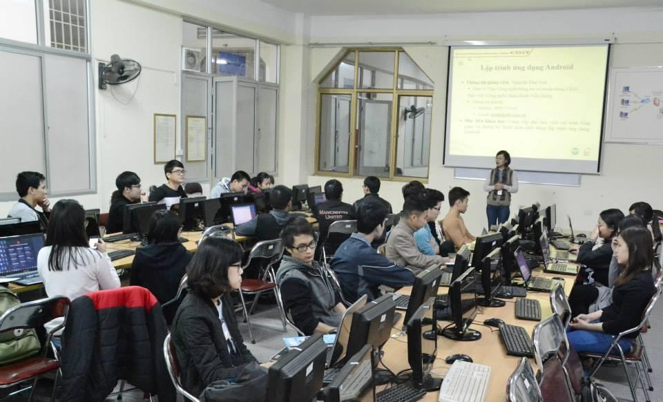 Lập trình ứng dụng Android thu hút đông đảo các bạn trẻ tham gia