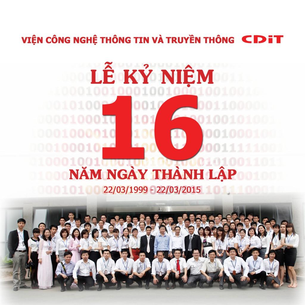Thư ngỏ nhân dịp kỷ niệm 16 năm ngày thành lập CDIT