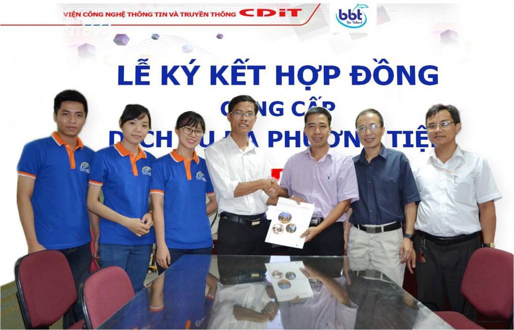Hợp đồng cung cấp dịch vụ Đa phương tiện đầu tiên giữa CDIT và BBT Việt Nam