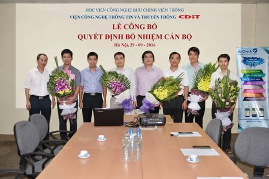 Lễ công bố các quyết định bổ nhiệm cán bộ của CDIT