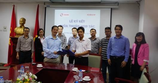 Lễ ký kết Thỏa thuận hợp tác giữa CDIT và CADS